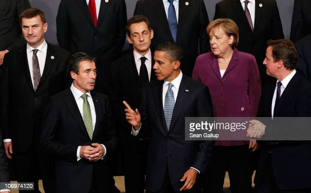 Estonian Prime Minister Andrus Ansip NATO Secretary General Anders Fogh Rasmussen French President Nicolas Sarkozy US President Barack Obama...