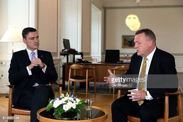 Estonian Prime Minister Taavi Rõivas visits Denmark and meets with Prime Minister Lars Loekke Rasmussen at the Prime Minister's Office on October 13,...
