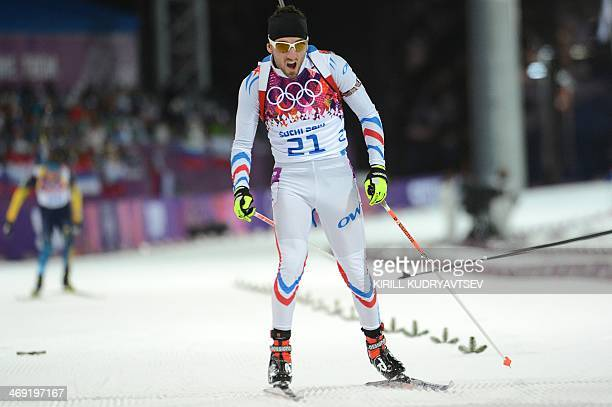 Estonia's Kaarel Nurmsalu competes in the Men's Biathlon 20 km Individual at the Laura CrossCountry Ski and Biathlon Center during the Sochi Winter...