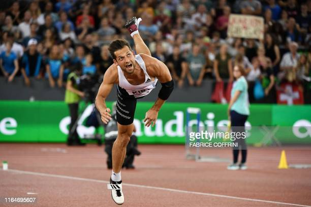 Estonia's Magnus Kirt competes in the Men Javelin Throw during the IAAF Diamond League competition on August 29 in Zurich.
