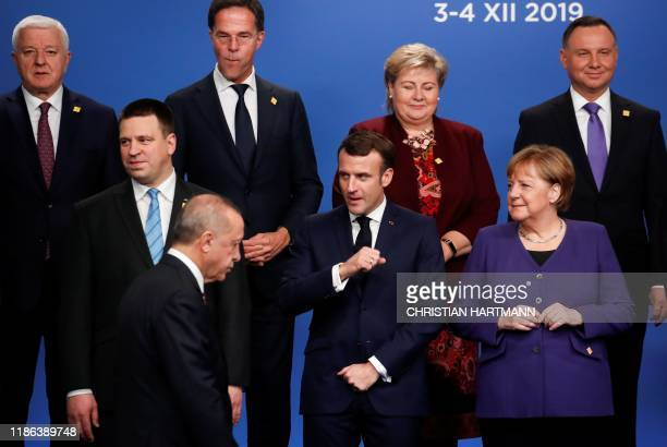 Estonia's Prime Minister Juri Ratas France's President Emmanuel Macron Germany's Chancellor Angela Merkel Montenegro's Prime Minister Dusko Markovic...