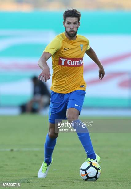 Estoril Praia defender Joel Ferreira from Portugal in action during the PreSeason Friendly match between CF Os Belenenses and GD Estoril Praia at...