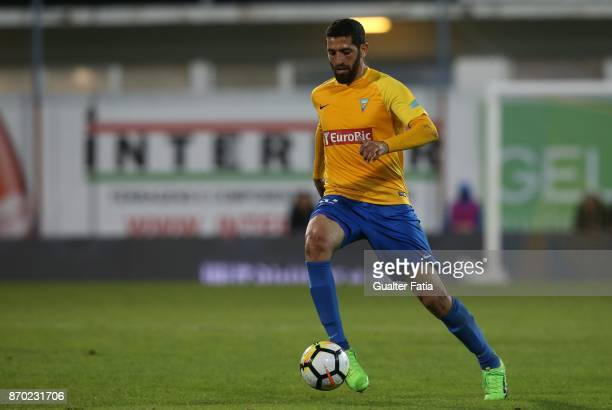Estoril Praia defender Rafik Halliche from Algeria in action during the Primeira Liga match between GD Estoril Praia and Rio Ave FC at Estadio...