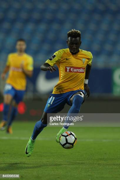 Estoril Praia forward Allano Lima from Brazil during the match between GD Estoril Praia and Moreirense FC for the round five of the Portuguese...