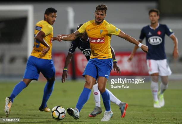 Estoril Praia forward Kleber from Brazil in action during the PreSeason Friendly match between CF Os Belenenses and GD Estoril Praia at Estadio do...