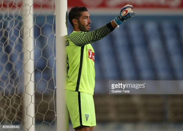 Estoril Praia goalkeeper Moreira from Portugal in action during the PreSeason Friendly match between CF Os Belenenses and GD Estoril Praia at Estadio...