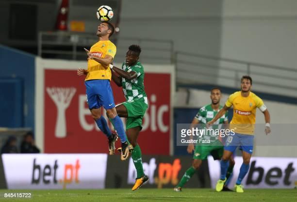 Estoril Praia midfielder Eduardo Teixeira from Brazil with Moreirense FC midfielder Alfa Semedo from Guinea Bissau in action during the Primeira Liga...