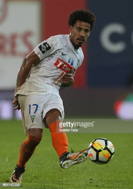 Estoril Praia midfielder Lucas Evangelista from Brazil in action during the Primeira Liga match between GD Estoril Praia and Boavista FC at Estadio...