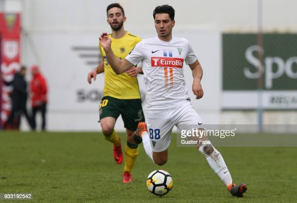 Estoril Praia midfielder Pedro Rodrigues from Portugal in action during the Primeira Liga match between GD Estoril Praia and FC Pacos de Ferreira at...