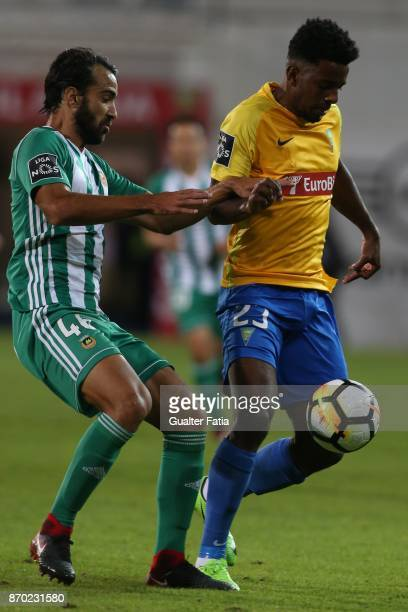 Estoril Praia midfielder Wesley from Brazil with Rio Ave FC defender Marcelo from Brazil in action during the Primeira Liga match between GD Estoril...