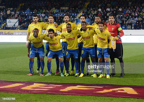 Estoril Praia team group taken during the UEFA Europa League group stage match between FC Slovan Liberec and Estoril Praia held on October 3 2013 at...