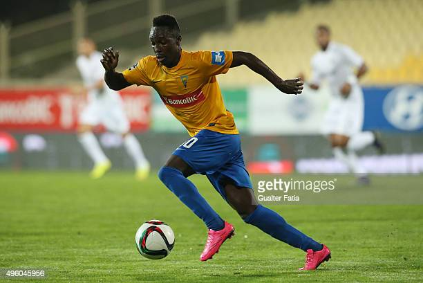 Estoril Praia's forward Gerso Fernandes in action during the Primeira Liga match between GD Estoril Praia and A Academica de Coimbra at Estadio...