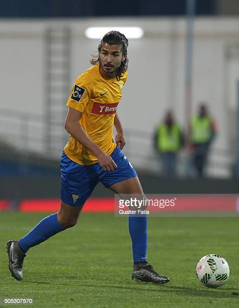 Estoril Praia's midfielder Mattheus Oliveira in action during the Primeira Liga match between GD Estoril Praia and SL Benfica at Estadio Antonio...