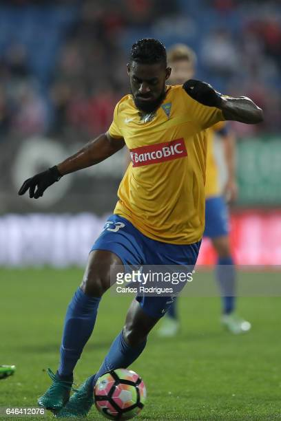 Estoril's defender Dankler Pedreira from Brazil during the match between Estoril Praia SAD and SL Benfica for the Portuguese Cup at Estadio Antonio...