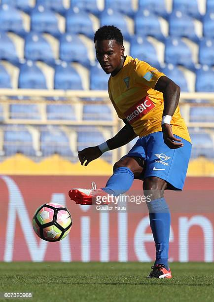 Estoril's defender Mano from Portugal in action during the Primeira Liga match between GD Estoril Praia and Moreirense FC at Estadio Antonio Coimbra...