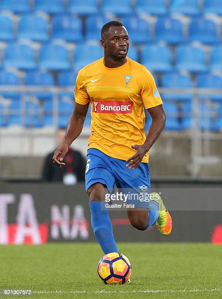 Estoril's defender Oumar Diakhite from Senegal in action during the Primeira Liga match between GD Estoril Praia and CD Tondela at Estadio Antonio...