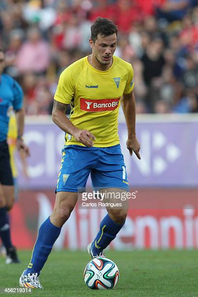 Estoril's forward Kleber in action during the Primeira Liga match between GD Estoril Praia and SL Benfica at Estadio Antonio Coimbra da Mota on...