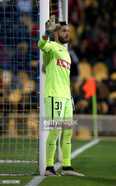 Estoril's goalkeeper Jose Moreira from Portugal in action during the Primeira Liga match between GD Estoril Praia and SL Benfica at Estadio Antonio...