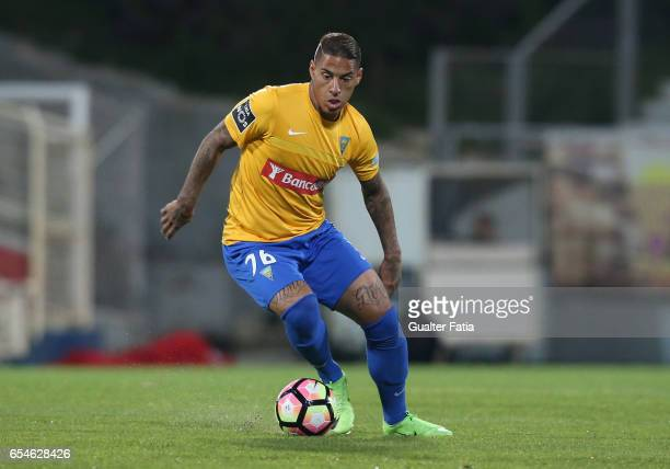 Estoril's midfielder Carlinhos from Brazil in action during the Primeira Liga match between GD Estoril Praia and Boavista FC at Estadio Antonio...