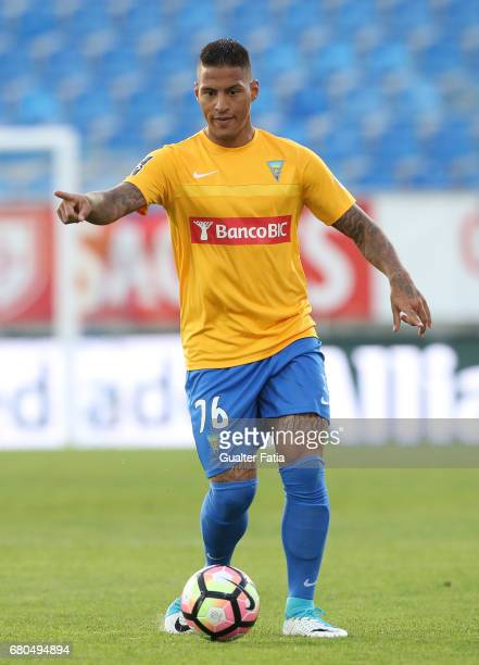 Estoril's midfielder Carlinhos from Brazil in action during the Primeira Liga match between GD Estoril Praia and GD Chaves at Estadio Antonio Coimbra...