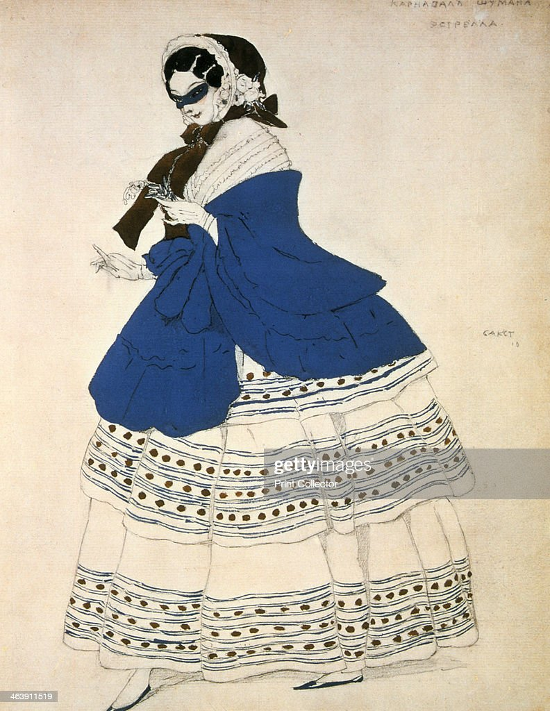 Schumann Design estrella design for a costume for the ballet carnival composed by