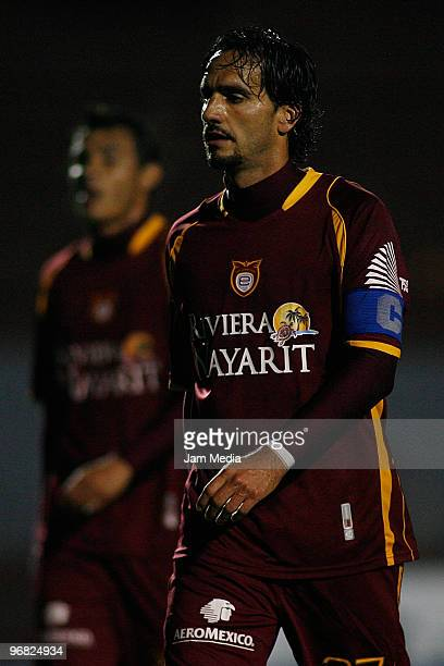 Estudiantes Tecos' player Juan Carlos Leano reacts during the match against Monterrey in the Bicentenario 2010 tournament, the closing stage of the...