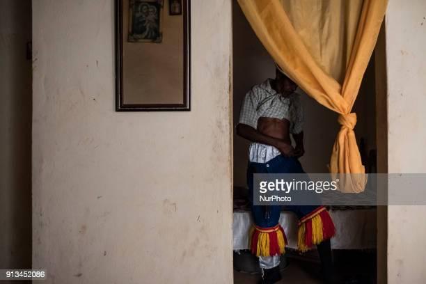 Zé Estêvão prepares to wear the quotCaboclo de Lançaquot costume at his home in the city of Nazaré de Mata in Northeast Brazil on September 23 2017