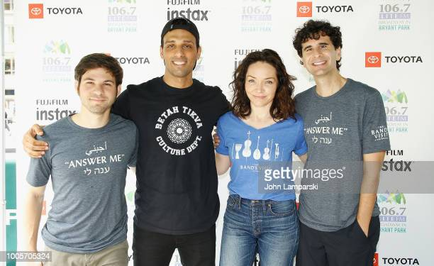 Etai Benson Ari'el Stachel Katrina Lenk and John Cariani attend 1067 LITE FM Broadway in Bryant Park on July 26 2018 at Bryant Park on July 26 2018...