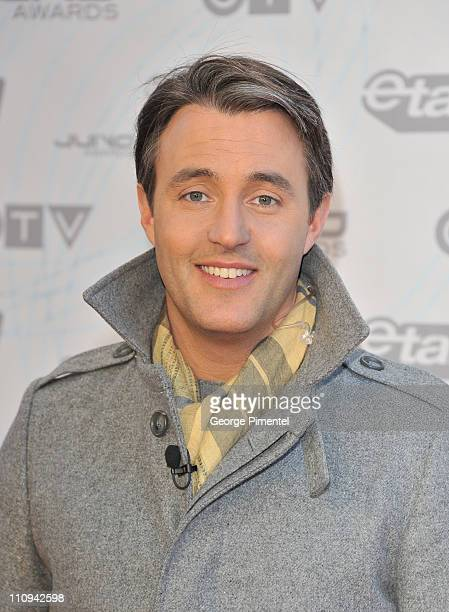 etalk host Ben Mulroney poses on the red carpet at the 2011 Juno Awards at Air Canada Centre on March 27 2011 in Toronto Canada