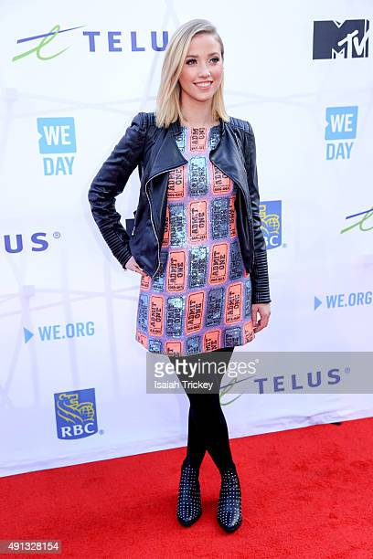 ETalk reporter Liz Trinnear attends WE Day Toronto at the Air Canada Centre on October 1, 2015 in Toronto, Canada.