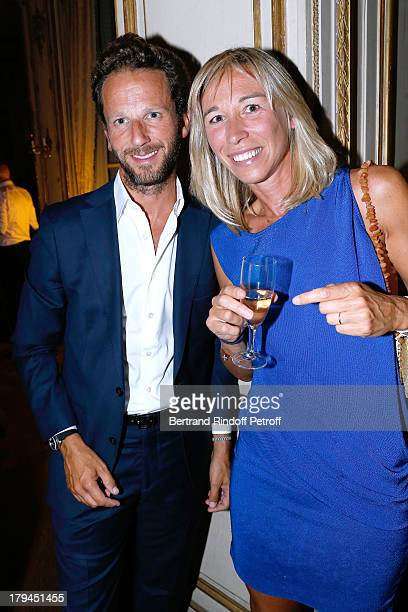 Etam CEO Laurent Milchior with Miss Charles Beigbeder attend Lui Magazine Launch Party held at Foch Avenue in Paris at on September 3 2013 in Paris...