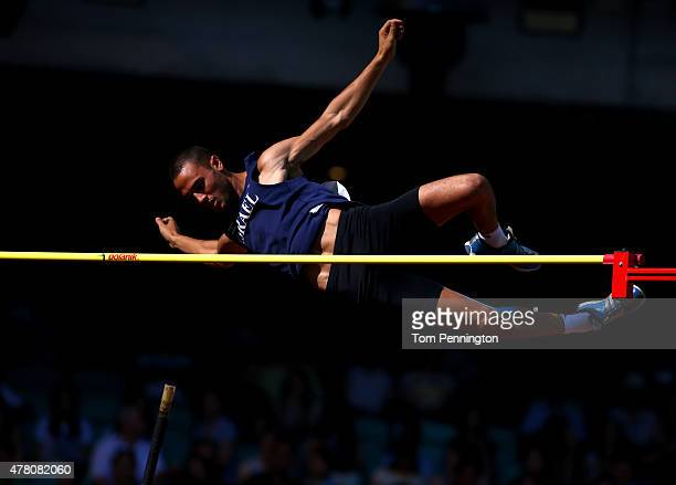 Etamar Bhastekar of Israel competes in the Men's Pole Vault during day ten of the Baku 2015 European Games at the Olympic Stadium on June 22 2015 in...