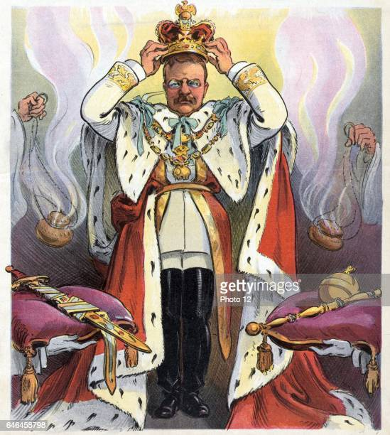 L'Etat c'est moi The State is Me 1904 President Theodore Roosevelt crowning himself as emperor