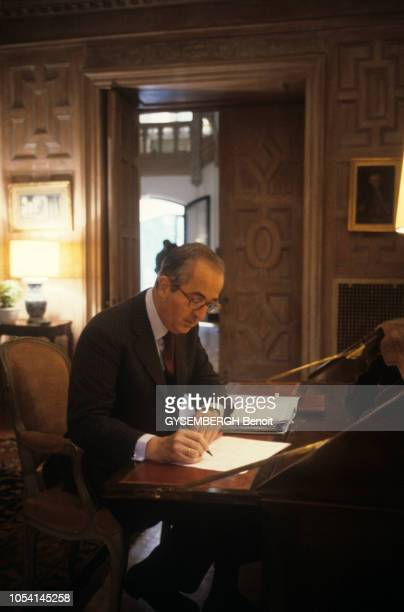 EtatsUnis septembre 1987 Edouard BALLADUR à Washington pour participer à la session plénière du Fonds Monétaire International et de la Banque...