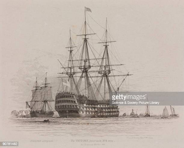 Etching after his own drawing by Edward William Cooke of possibly the most famous warship in the history of the Royal Navy HMS �Victory� was the...
