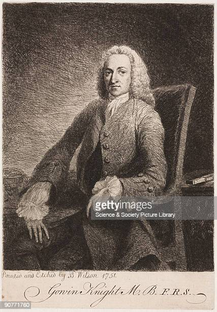 Etching by Benjamin Wilson after a portrait by himself. Knight studied magnetism, and was the leading writer on magnetic fluid theory of his time. In...