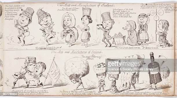 Etching by George Sala taken from the �Great Exhibition �Wot is to Be�� a satirical look at the forthcoming Great Exhibition of 1851 Representing the...