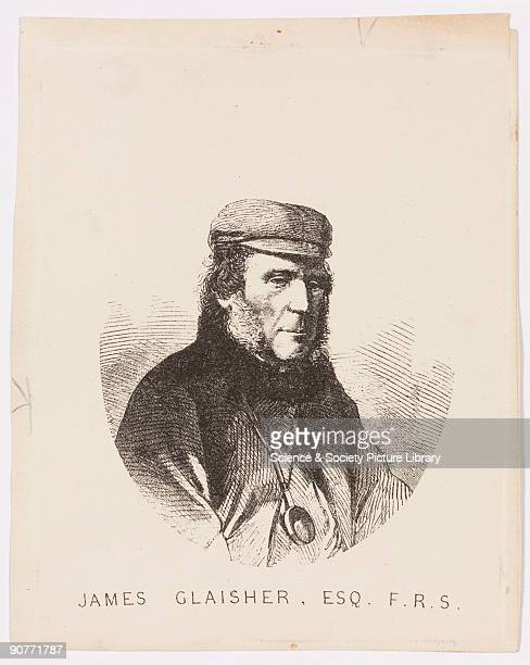 Etching of Glaisher who became superintendent of the department of meteorology and magnetism at Greenwich Observatory in 1838. In 1850 he founded the...