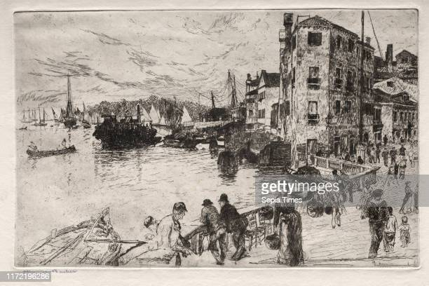 Castello Quarters Riva 19th century Otto H Bacher Etching