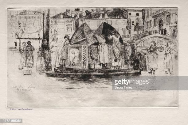 Pozzo San Vio, 1882. Otto H. Bacher . Etching.