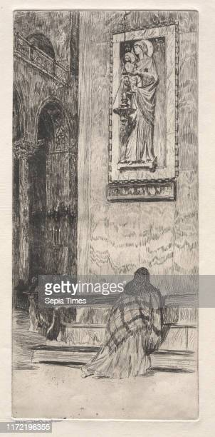 St Marks 19th century Otto H Bacher Etching