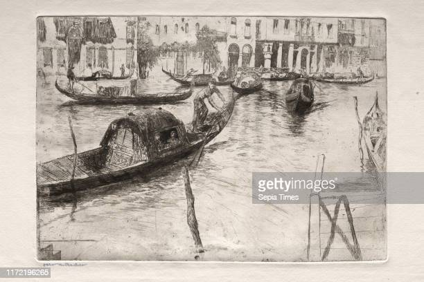 Traghetto San Felice 19th century Otto H Bacher Etching