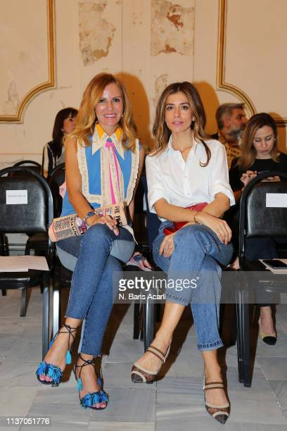 Etel Baler and Aysegul Afacan Koksal attend the Asli Filinta show during MercedesBenz Fashion Week Istanbul March 2019 at Zorlu Center on March 20...