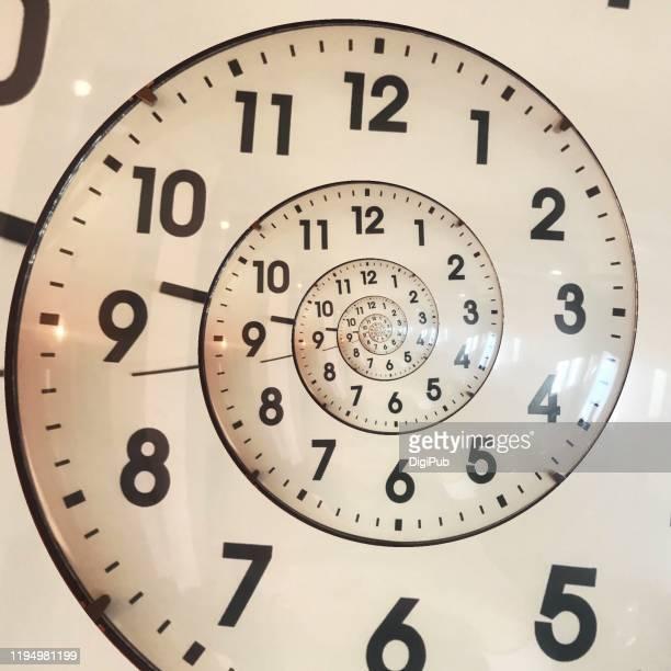 eternal clock face generated from wall clock photo - cambio horario fotografías e imágenes de stock