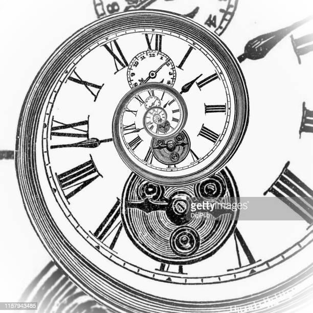 eternal clock face illumination - algarismo romano imagens e fotografias de stock