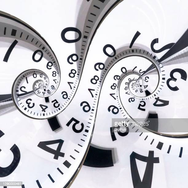 eternal clock face image manipulation - symbol stock pictures, royalty-free photos & images