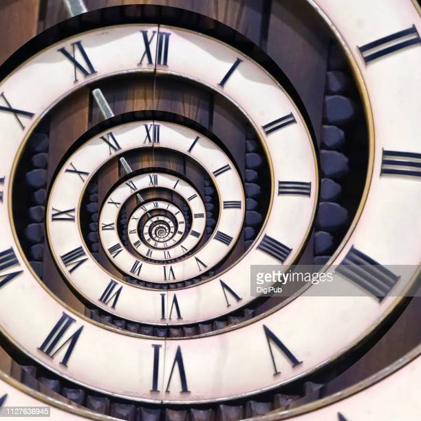 eternal clock face - tijdmeter stockfoto's en -beelden