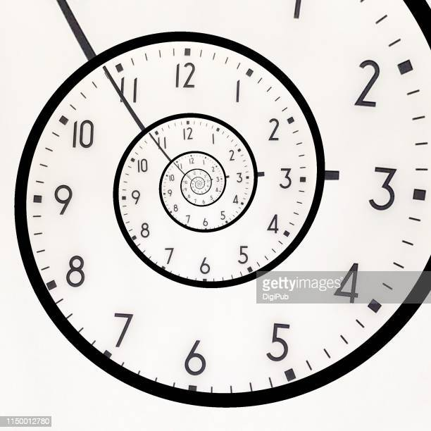 eternal clock face - eternity stock pictures, royalty-free photos & images