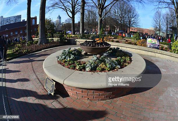 Eternal Flame at MLK Center during the MLK March and Rally on January 19 2015 in Atlanta Georgia