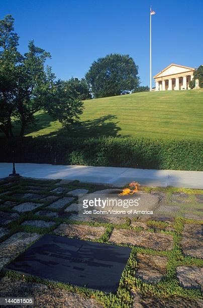 Eternal Flame at the tomb of President John F Kennedy Arlington Cemetery Washington DC